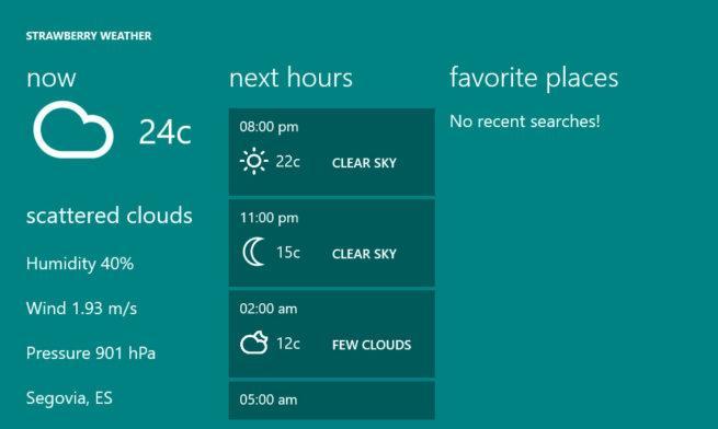 alertas sobre el tiempo en Windows 10