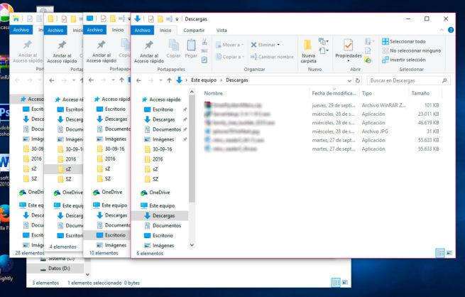 varias ventanas explorador archivos
