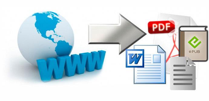 convertir web a documento