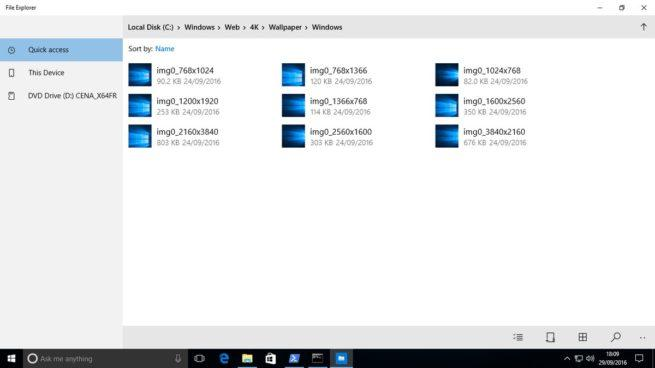 explorador de archivos Windows 10