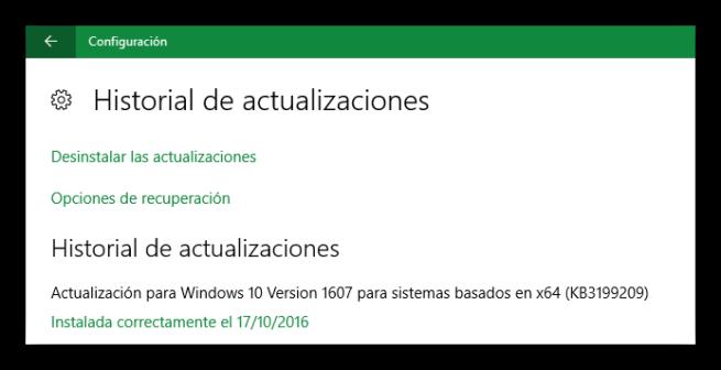 Actualizacion KB3199209 para Windows 10