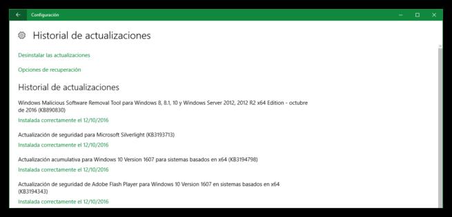 Actualización acumulativa KB3194798 para Windows 10