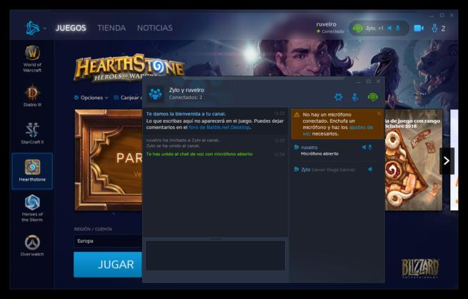 Chat de voz de Blizzard con Deco