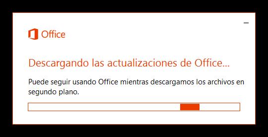 Descargando actualizaciones Office 2016