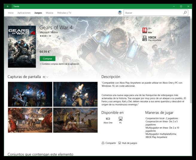 Gears of War 4 para Windows 10