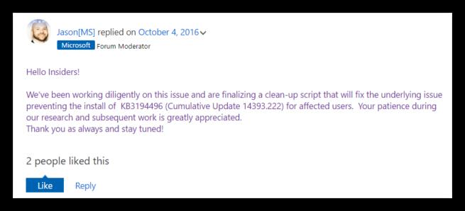 Moderador foros Microsoft Windows Update