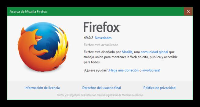 Mozilla Firefox 49.0.2
