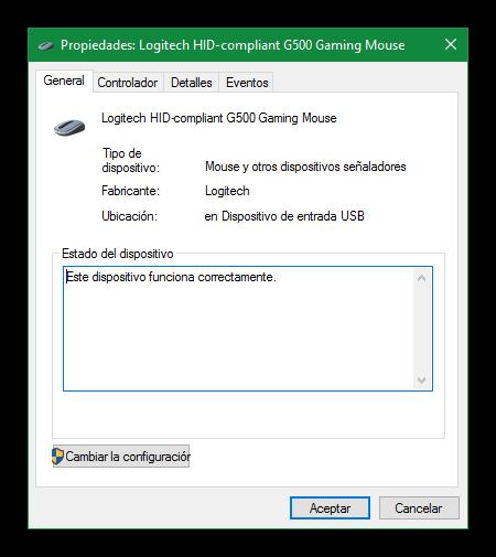 Propiedades ratón Windows