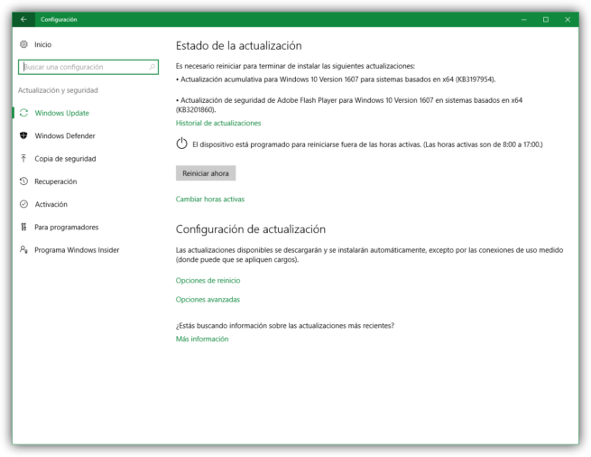 Windows 10 Anniversary Update parches acumulativos KB3197954