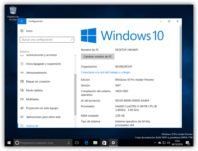 Windows 10 Redstone 2 primera ISO