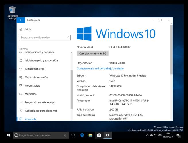 Windows 10 Redstone 2 primera ISO