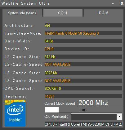 uso de tu CPU y memoria RAM con Webtile System Ultra