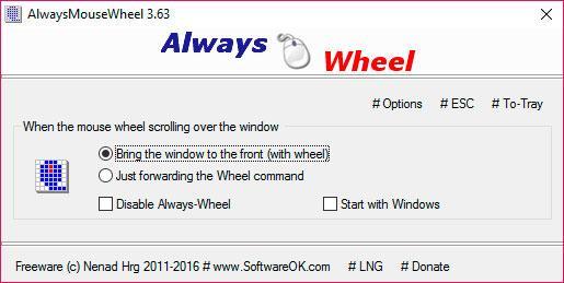 desplazarse o hacer scroll por ventanas no activas