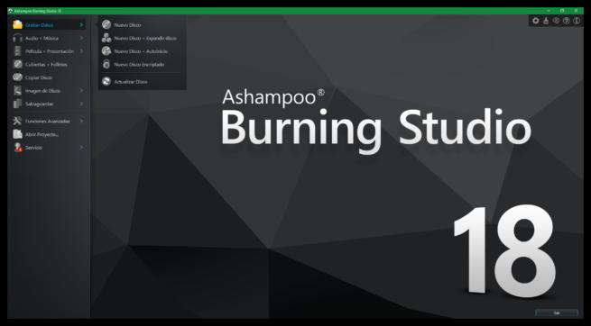 Ashampoo Burning Studio 18 - Principal