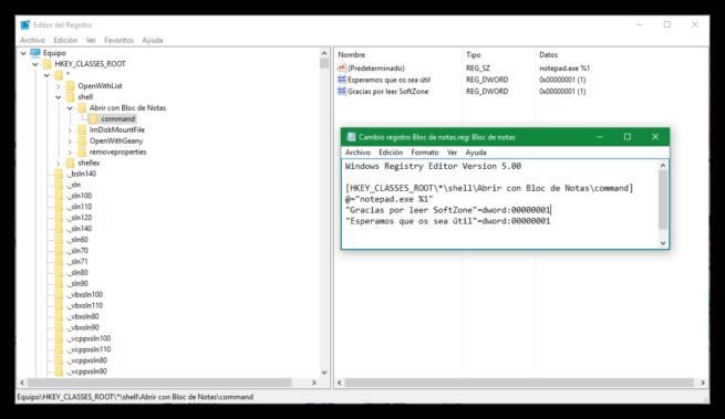 Exportar clave de registro de Windows