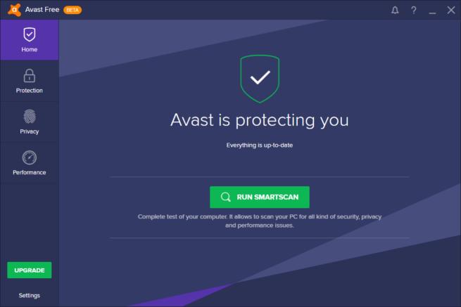 Nueva interfaz Avast 2017