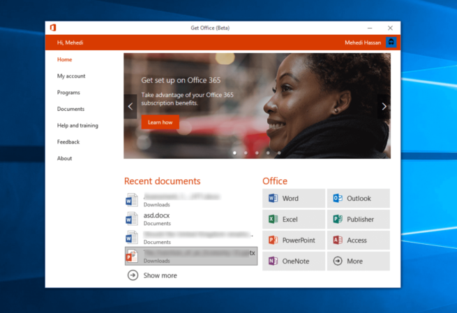 Obtener Office 365 Windows 10 Creators Update