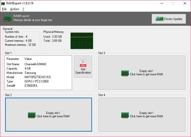 informe sobre la memoria RAM de tu PC