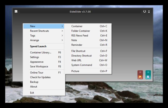 SideSlide - Nuevos widgets
