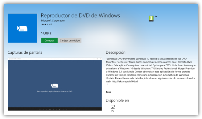 Windows DVD Player Windows Store