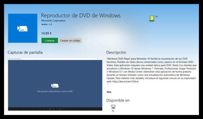 Windows DVD Player Windows Store