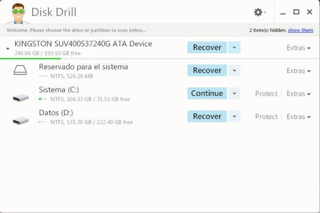 Disk Drill 2 recuperación de datos borrados