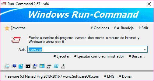 Run Command Ejecutar de Windows