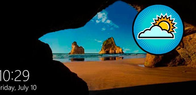 info del tiempo en Windows 10