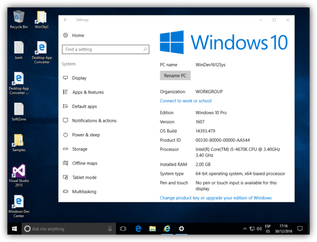 máquina virtual de Windows 10