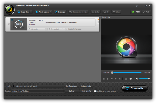 Aiseesoft Video Converter Ultimate - Descargando vídeo