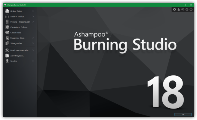 Ashampoo Burning Studio 18 principal