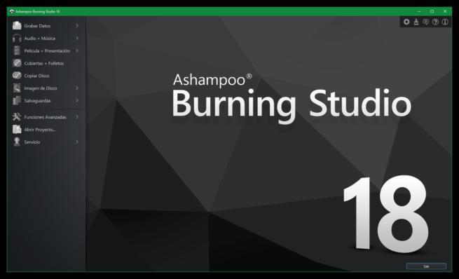 Ashampoo Burning Studio 18 principal
