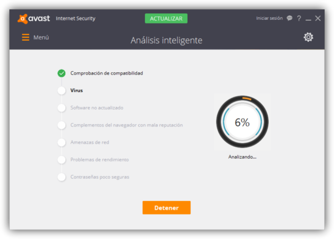 Avast Internet Security - Analisis inteligente