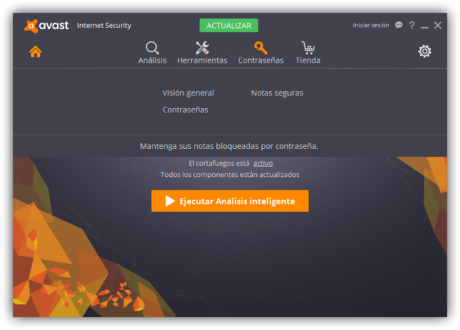 Avast Internet Security - Contraseñas