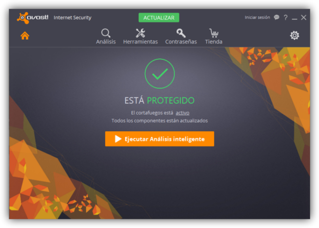Avast Internet Security - Ventana principal