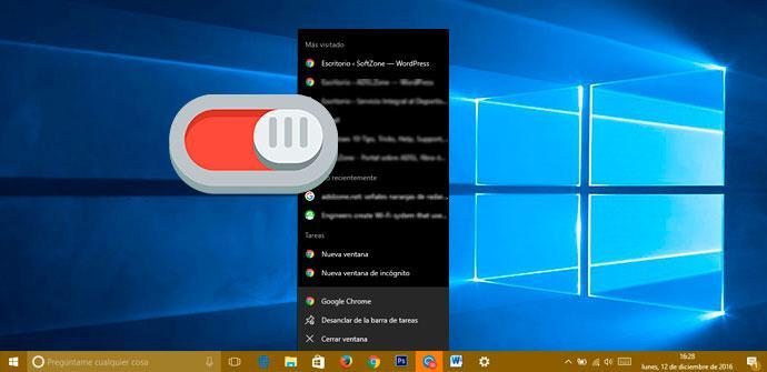 Jump List Windows 10