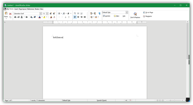 Notebookbar en LibreOffice 5.3
