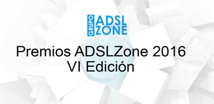 Ganadores de la VI edición de los #PremiosADSLZone 2016