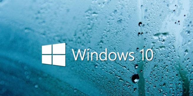 Windows 10 efecto lluvia