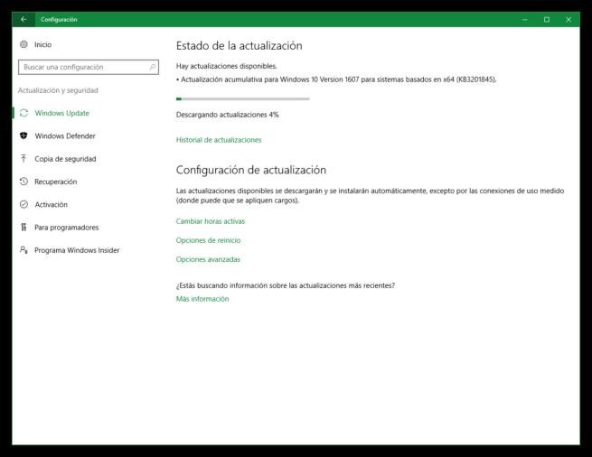 Windows 10 parche acumulativo KB3201845