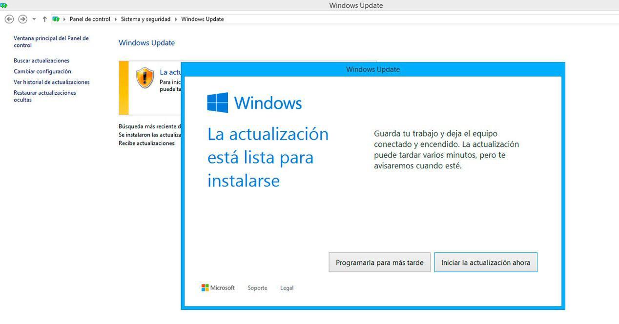 Actuzaliciones en Windows 10