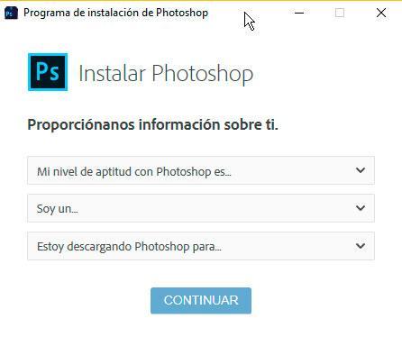 versión prueba Photoshop