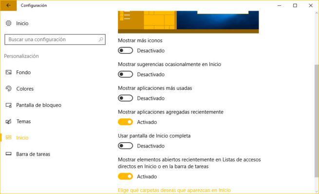 listas de accesos directos
