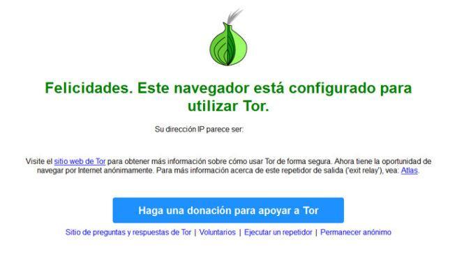 Navegador red Tor