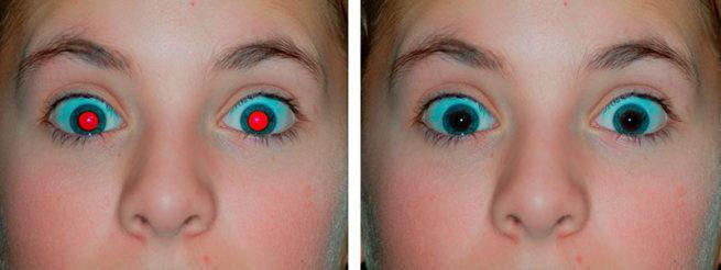 pincel ojos rojos