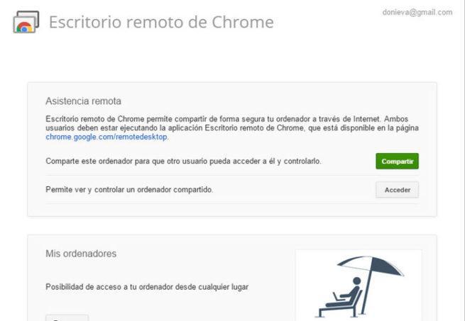 Conexion remota Remote Desktop