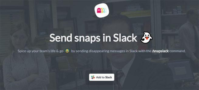 Web de Snapslack para Slack
