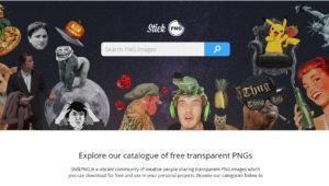 Conoce stickpng, la web para buscar ficheros PNG transparentes