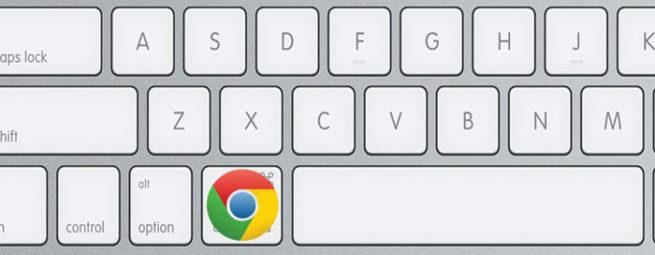Logo Chrome en teclado