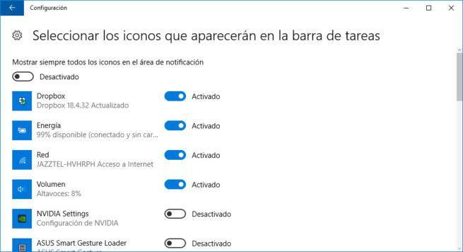 iconos barra tareas
